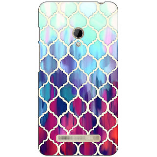 1 Crazy Designer White Red Blue Moroccan Tiles Pattern Back Cover Case For Asus Zenfone 5 C490300