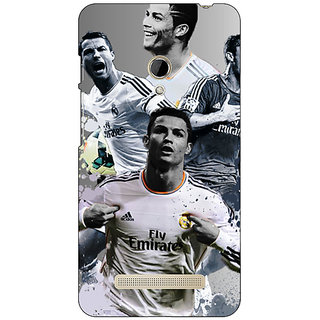 1 Crazy Designer Cristiano Ronaldo Real Madrid Back Cover Case For Asus Zenfone 5 C490307