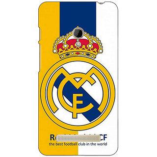 1 Crazy Designer Real Madrid Back Cover Case For Asus Zenfone 5 C490591