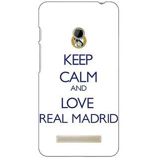 1 Crazy Designer Real Madrid Back Cover Case For Asus Zenfone 5 C490600