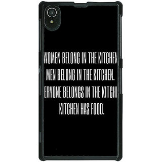 1 Crazy Designer Kitchen Quote Back Cover Case For Sony Xperia Z2 C481206