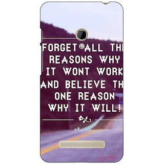 1 Crazy Designer Wise Quote Back Cover Case For Asus Zenfone 5 C491158
