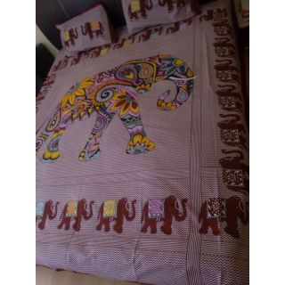 Shopgalore Digital Cotton Double Bedsheet with 2 Pillow Covers Free(JBD-06)