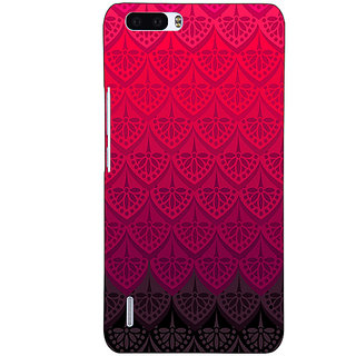 1 Crazy Designer Shades Of Pink Back Cover Case For Honor 6 Plus C500768