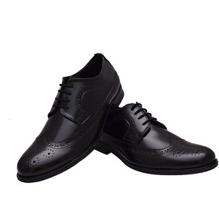 Hirel Black full Wing Brogue