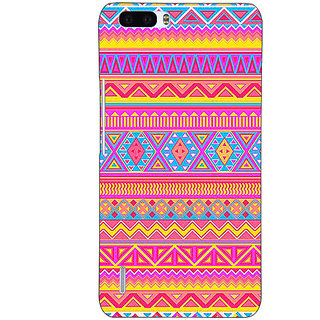 1 Crazy Designer Aztec Girly Tribal Back Cover Case For Honor 6 Plus C500072