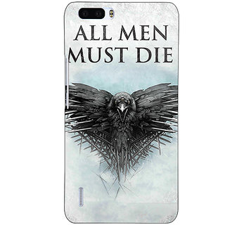1 Crazy Designer Game Of Thrones GOT All Men Must Die Back Cover Case For Honor 6 Plus C501556