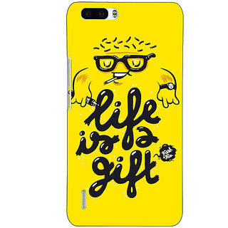 1 Crazy Designer Life Quote Back Cover Case For Honor 6 Plus C501415
