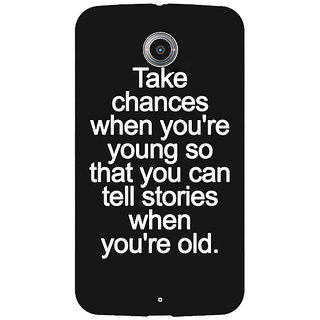 1 Crazy Designer Quote Back Cover Case For Google Nexus 6 C511476