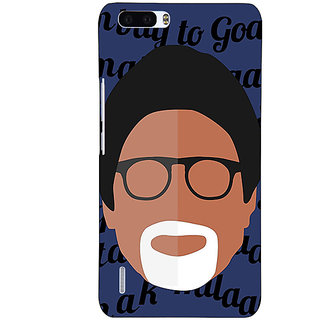 1 Crazy Designer Bollywood Superstar Amitabh Bachchan Back Cover Case For Honor 6 Plus C501093