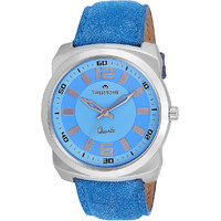 Swisstone Blue Leather Strap Analog Watch For Men/Boys- ST-GR017-LGT-BLU