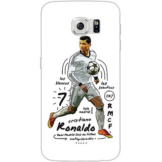 1 Crazy Designer Real Madrid Ronaldo Back Cover Case For Samsung S6 C520586
