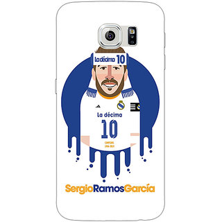 1 Crazy Designer Real Madrid Sergio Ramos Back Cover Case For Samsung S6 C520587
