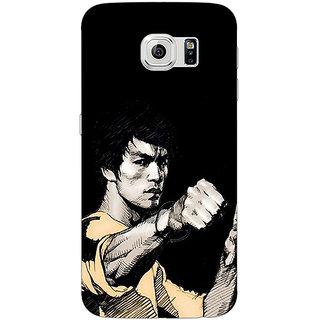 1 Crazy Designer Bruce Lee Back Cover Case For Samsung S6 C520825