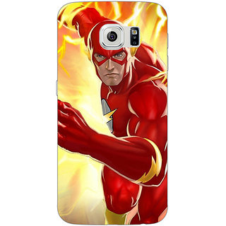 1 Crazy Designer Superheroes Flash Back Cover Case For Samsung S6 C520855