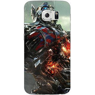1 Crazy Designer Transformers Optimus Prime Back Cover Case For Samsung S6 C520887