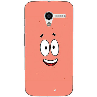 1 Crazy Designer Spongebob Patrick Back Cover Case For Moto X (1st Gen) C530465