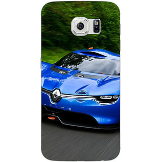 1 Crazy Designer Super Car Renault Alpine Back Cover Case For Samsung S6 C520651