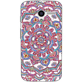 1 Crazy Designer Flower Circles Pattern Back Cover Case For Moto X (1st Gen) C530230