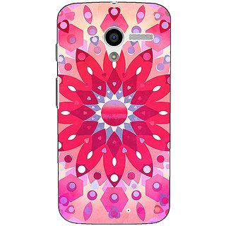 1 Crazy Designer Red Flower Pattern Back Cover Case For Moto X (1st Gen) C530256