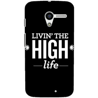 1 Crazy Designer Weed Quotes Back Cover Case For Moto X (1st Gen) C530499