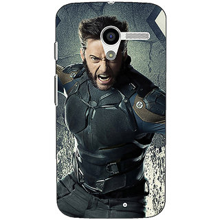 1 Crazy Designer Wolverine Hugh Jackman Back Cover Case For Moto X (1st Gen) C530894