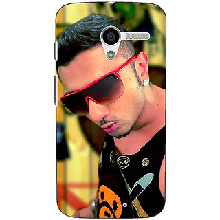 1 Crazy Designer Bollywood Superstar Honey Singh Back Cover Case For Moto X (1st Gen) C531181