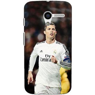 1 Crazy Designer Cristiano Ronaldo Real Madrid Back Cover Case For Moto X (1st Gen) C530309