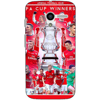 1 Crazy Designer Arsenal Back Cover Case For Moto X (1st Gen) C530516