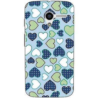 1 Crazy Designer Hearts Back Cover Case For Moto X (1st Gen) C530706
