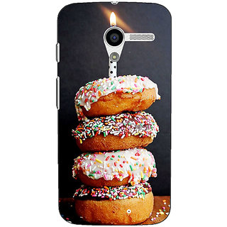 1 Crazy Designer Donut Birthday Back Cover Case For Moto X (1st Gen) C531218