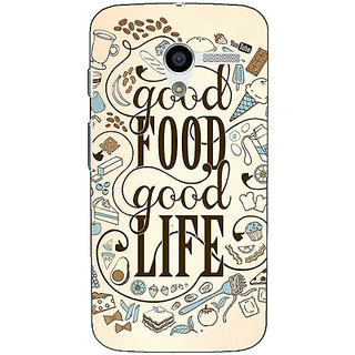 1 Crazy Designer Good Food Quote Back Cover Case For Moto X (1st Gen) C531226