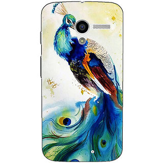 1 Crazy Designer Paisley Beautiful Peacock Back Cover Case For Moto X (1st Gen) C531583