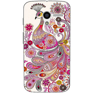 1 Crazy Designer Paisley Beautiful Peacock Back Cover Case For Moto X (1st Gen) C531584