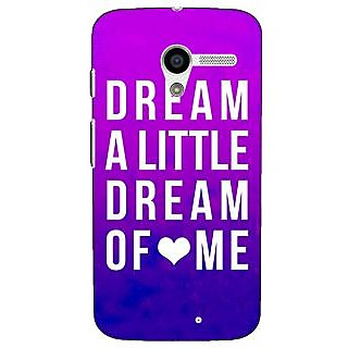 1 Crazy Designer Dream Love Back Cover Case For Moto X (1st Gen) C530091