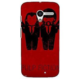 1 Crazy Designer Pulp Fiction Back Cover Case For Moto X (1st Gen) C530353