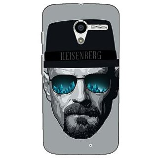 1 Crazy Designer Breaking Bad Heisenberg Back Cover Case For Moto X (1st Gen) C530413