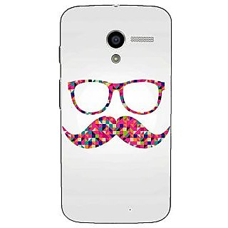 1 Crazy Designer Mustache Back Cover Case For Moto X (1st Gen) C530751