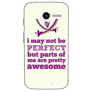 1 Crazy Designer Quote Back Cover Case For Moto X (1st Gen) C531355