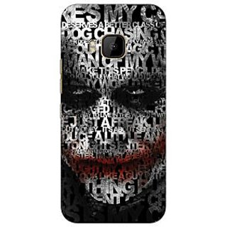 1 Crazy Designer Villain Joker Back Cover Case For HTC M9 C540047