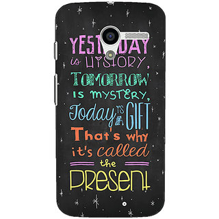 1 Crazy Designer Happiness Quote Back Cover Case For Moto X (1st Gen) C530814