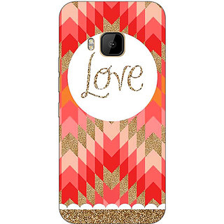 1 Crazy Designer Love Back Cover Case For HTC M9 C540096