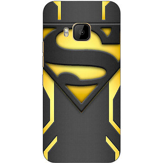 1 Crazy Designer Superheroes Superman Back Cover Case For HTC M9 C540385