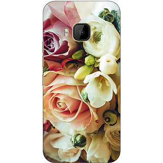 1 Crazy Designer Roses Back Cover Case For HTC M9 C540721