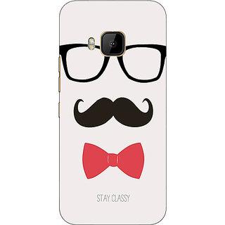 1 Crazy Designer Mustache Back Cover Case For HTC M9 C540756