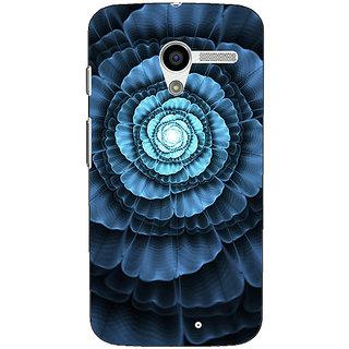 1 Crazy Designer Abstract Flower Pattern Back Cover Case For Moto X (1st Gen) C531517