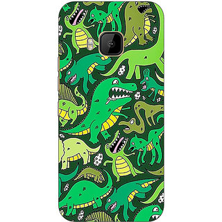 1 Crazy Designer Dinosaurs Pattern Back Cover Case For HTC M9 C541383