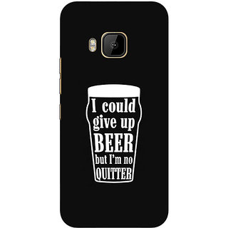 1 Crazy Designer Beer Quote Back Cover Case For HTC M9 C541254