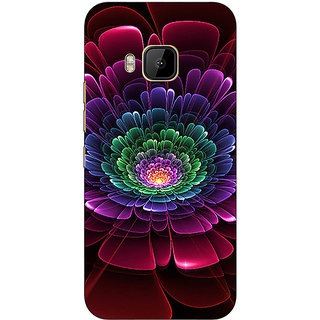 1 Crazy Designer Abstract Flower Pattern Back Cover Case For HTC M9 C541504