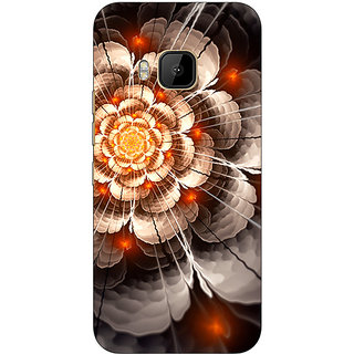 1 Crazy Designer Abstract Flower Pattern Back Cover Case For HTC M9 C541507